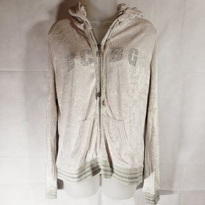 BCBGMAXAZRIA Velour Hooded Sweatshirt